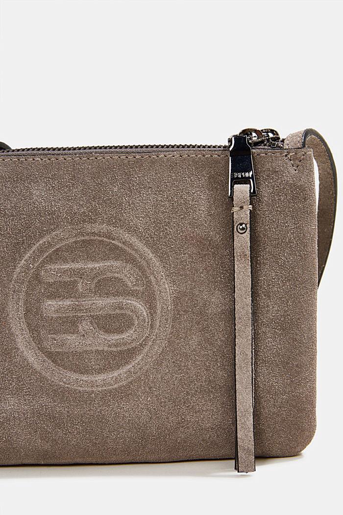 Shoulder bag made of 100% suede, ANTHRACITE, detail image number 3