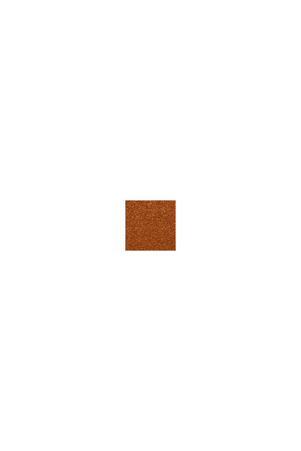 Sac bandoulière 100% cuir velours, RUST BROWN, swatch