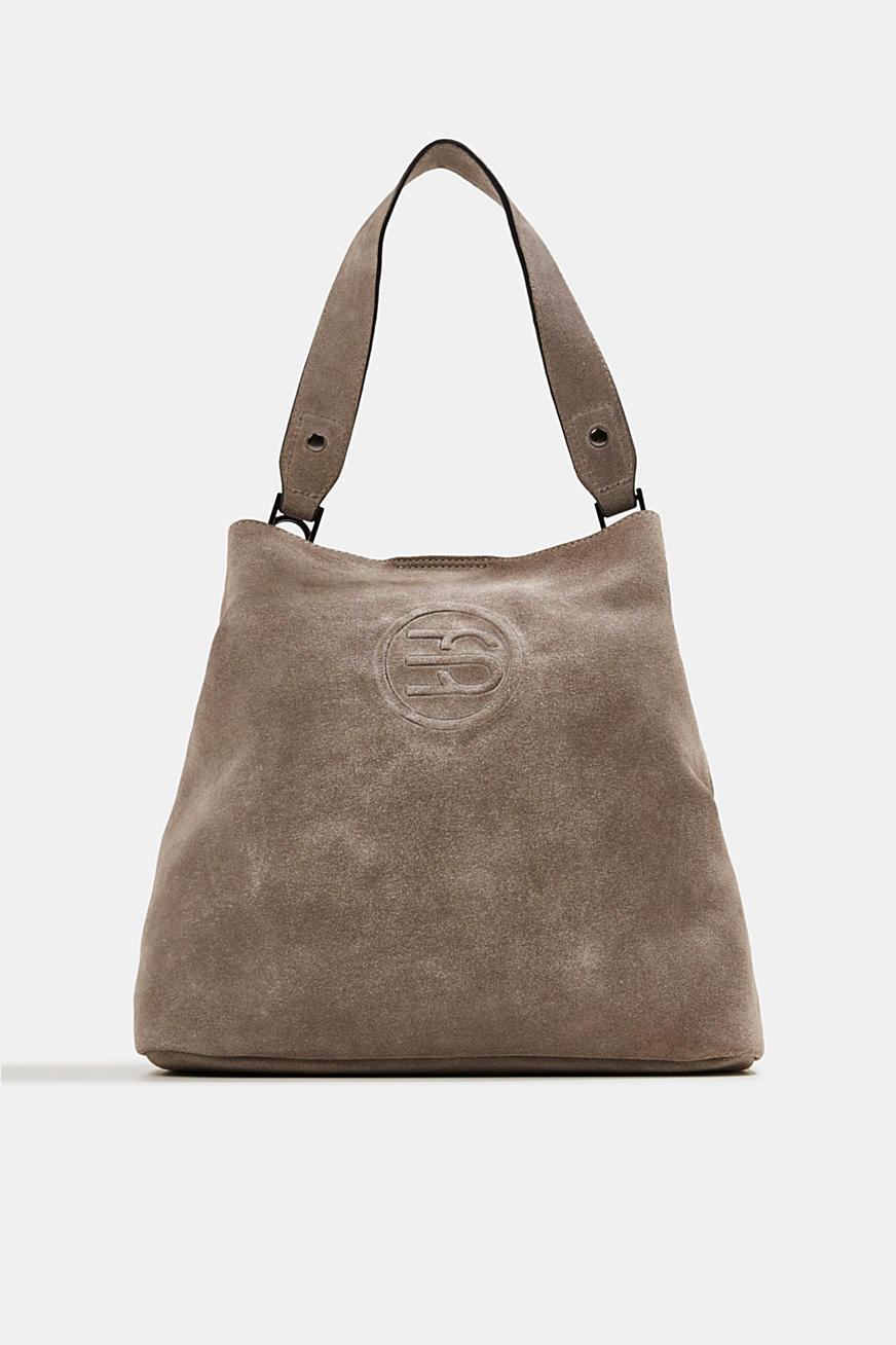 Hobo bag made of 100% suede