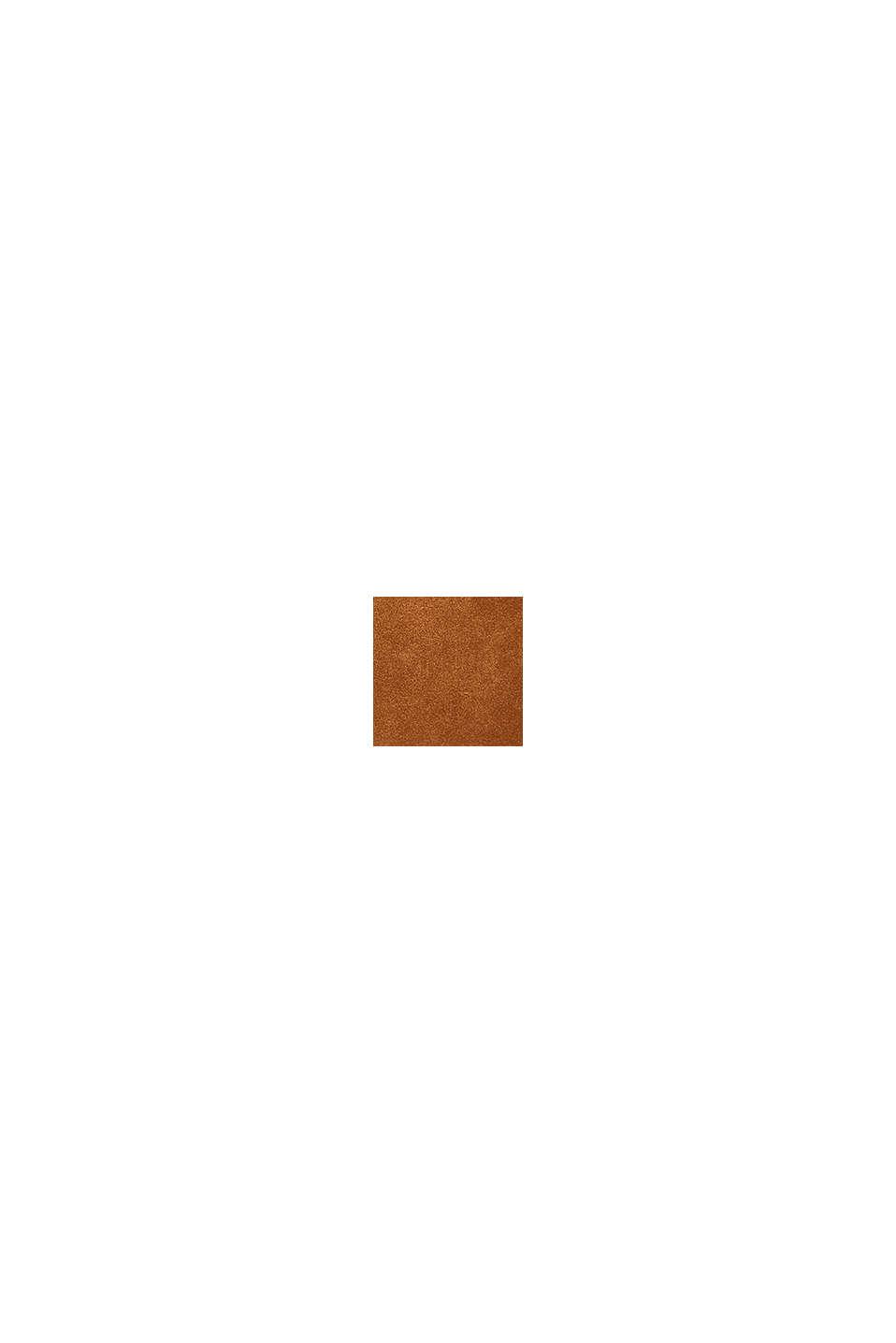 Sac besace en 100% cuir velours, RUST BROWN, swatch