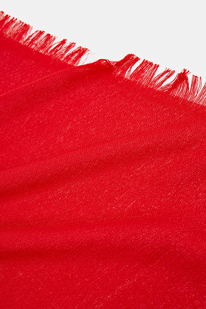 Recycled: Textured woven scarf, RED, detail image number 2