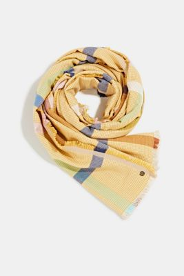 Woven scarf with LENZING™ ECOVERO™, BRASS YELLOW, detail
