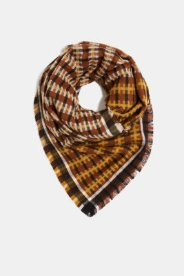 Scarf with LENZING™ ECOVERO™, BRASS YELLOW, detail