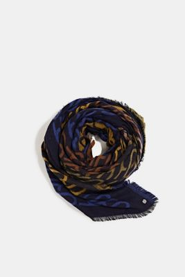 Scarf with LENZING™ ECOVERO™, NAVY, detail