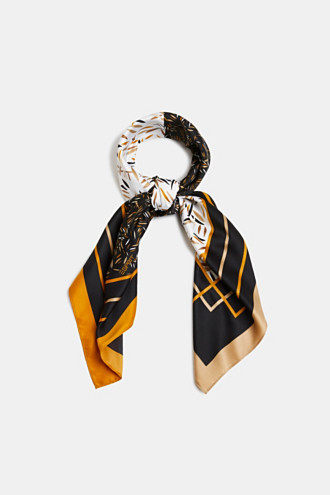 Recycled: satin scarf with a print