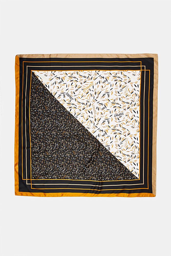 Recycelt: Satintuch mit Print, BLACK, detail image number 2