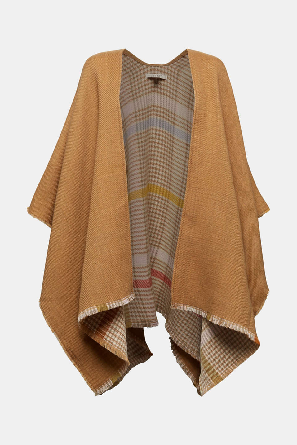 Esprit - Poncho with a check pattern