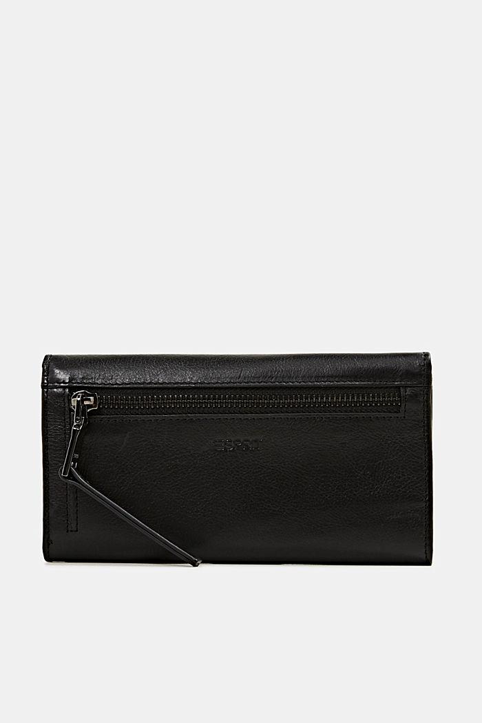 Portafoglio in 100% pelle, BLACK, detail image number 2