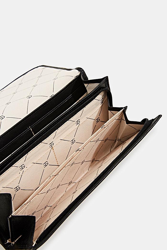 Portafoglio in 100% pelle, BLACK, detail image number 3
