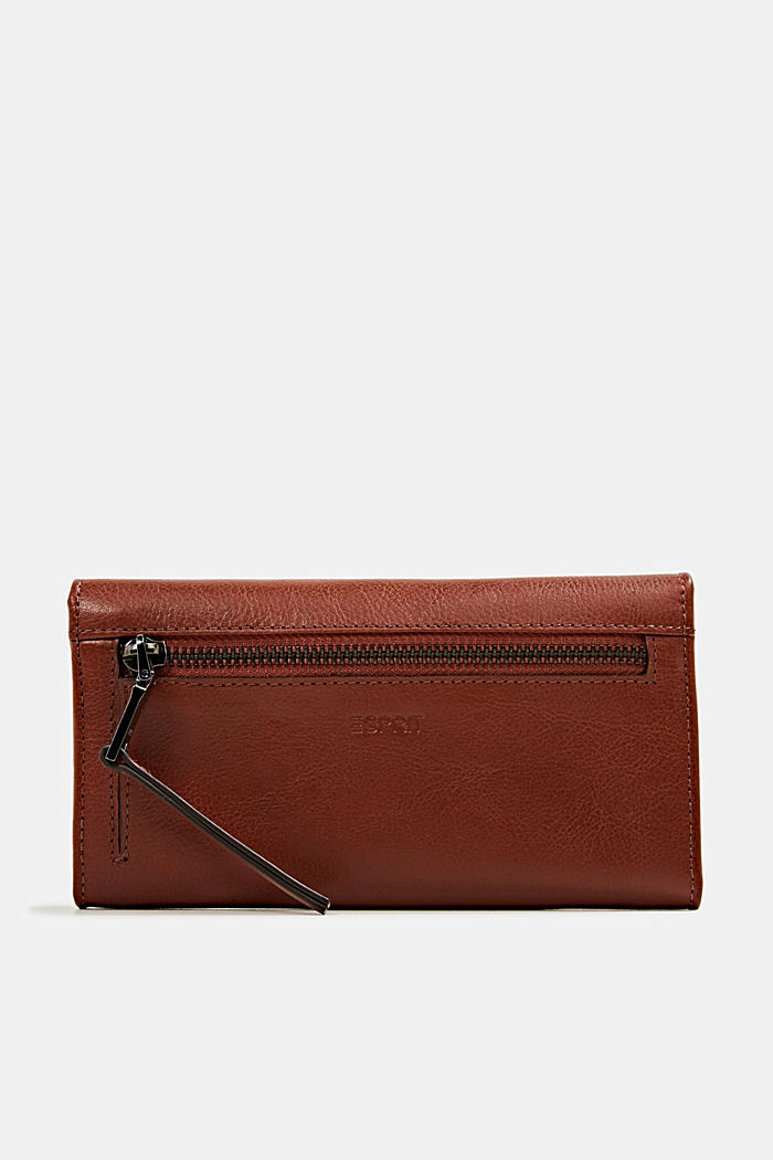 Purse in 100% leather, RUST BROWN, detail image number 2