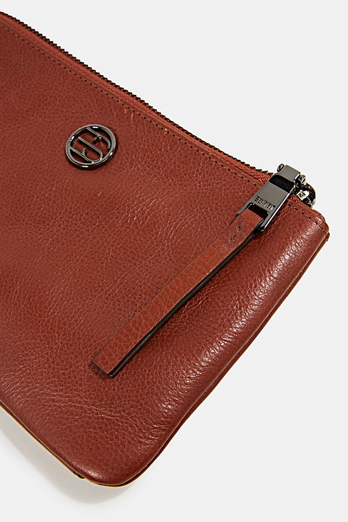 Purse in 100% leather, RUST BROWN, detail image number 1