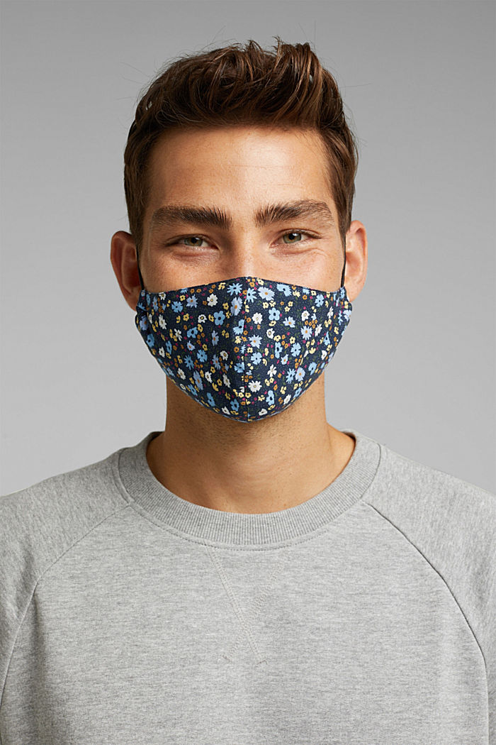 Face mask made of 100% organic cotton, NEW NAVY, detail image number 3