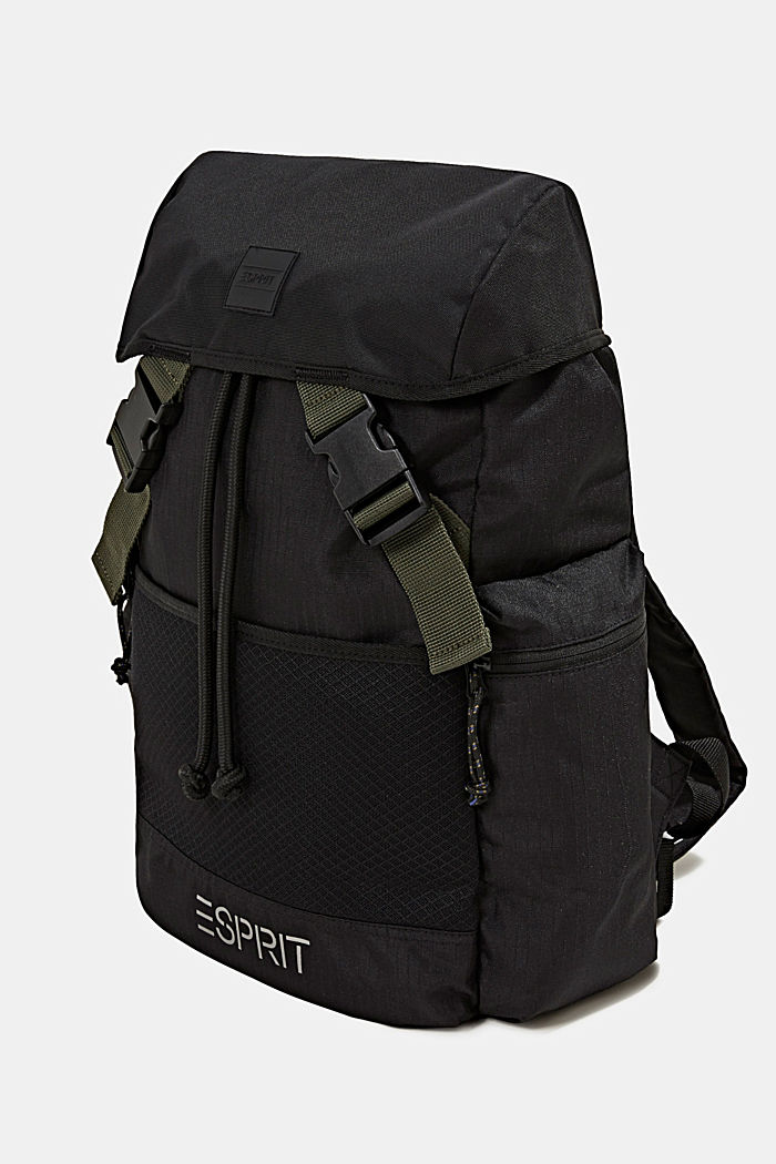 Nylon rucksack, BLACK, detail image number 2