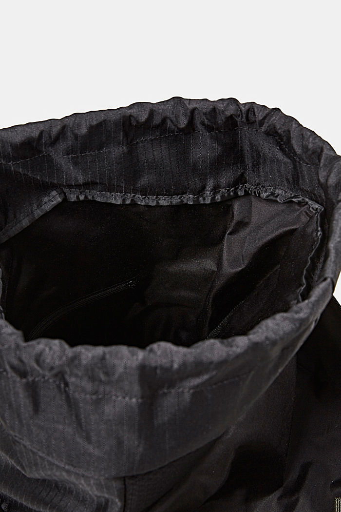 Nylon rucksack, BLACK, detail image number 4