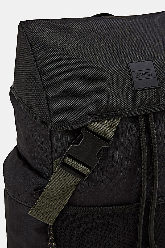 Nylon rucksack, BLACK, detail image number 3