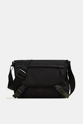 Messenger bag made of robust woven fabric, BLACK, detail