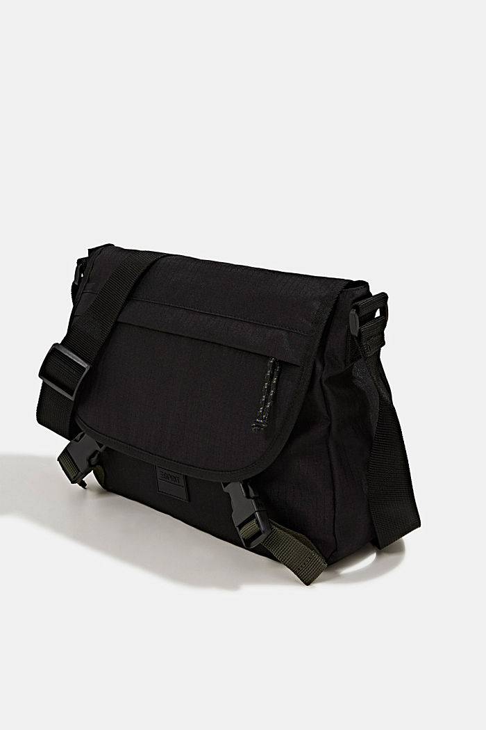 Messenger bag made of robust woven fabric, BLACK, detail image number 2