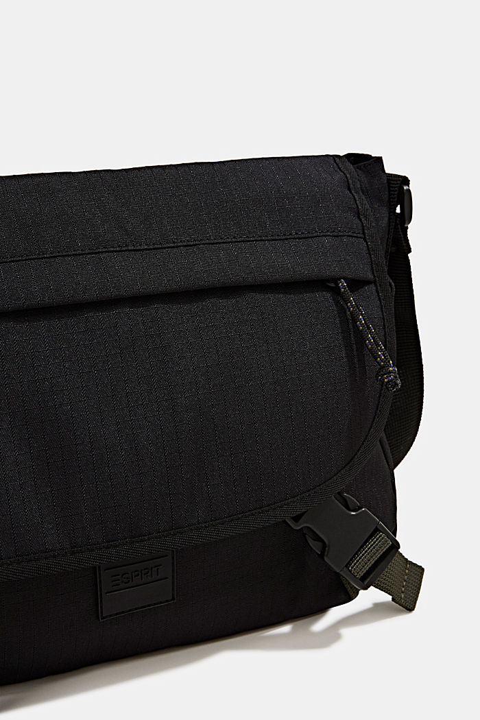 Messenger bag made of robust woven fabric, BLACK, detail image number 3