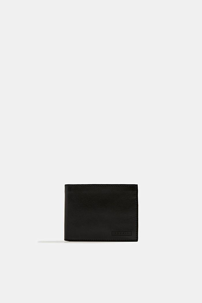 Geldbörse aus 100% Leder, BLACK, detail image number 0