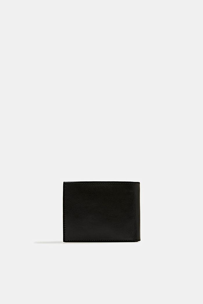 Geldbörse aus 100% Leder, BLACK, detail image number 2