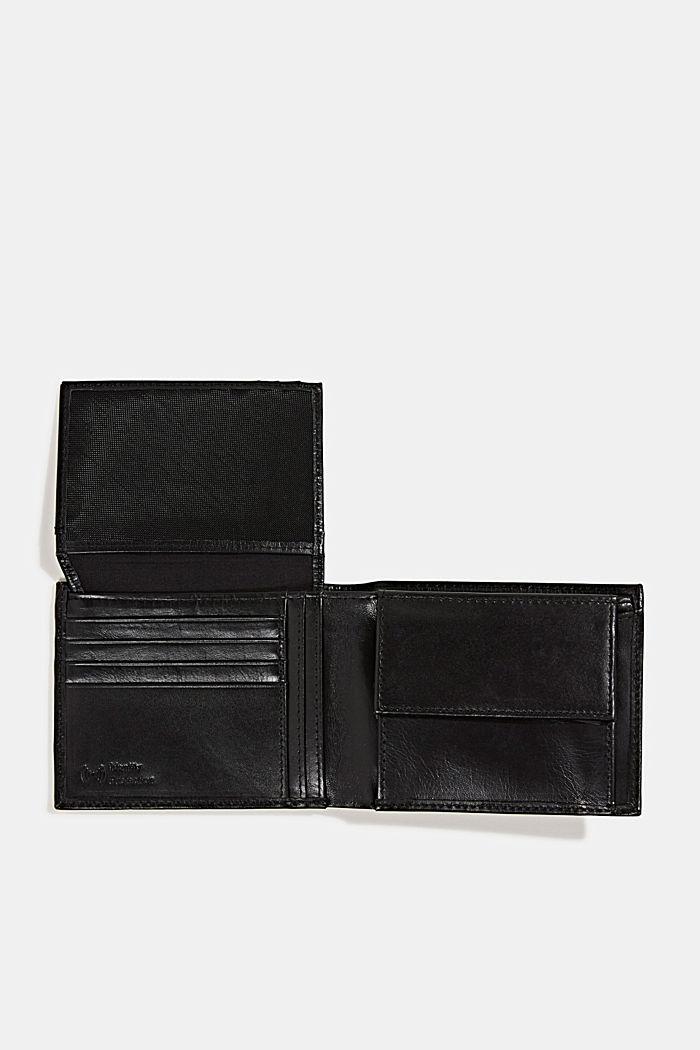 Geldbörse aus 100% Leder, BLACK, detail image number 3