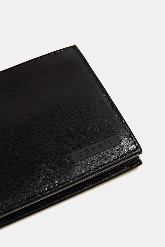 Geldbörse aus 100% Leder, BLACK, detail image number 1