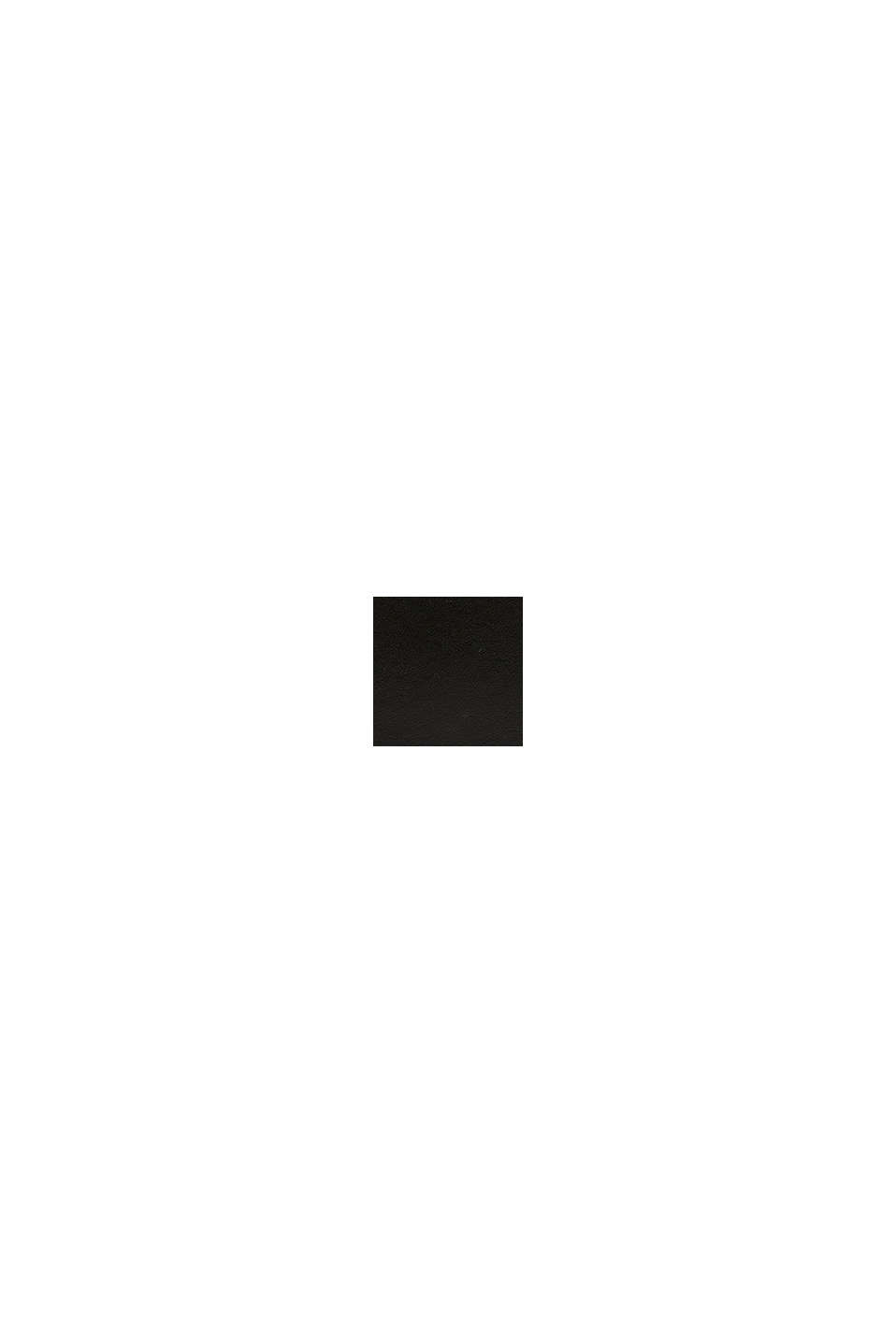 Geldbörse aus 100% Leder, BLACK, swatch