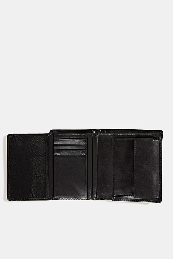 Purse in 100% leather, BLACK, detail image number 3