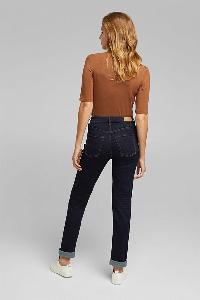 High-Waist-Jeans mit Bio-Baumwolle, BLUE RINSE, detail image number 3