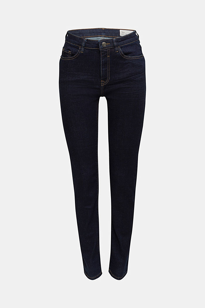 High-Waist-Jeans mit Bio-Baumwolle, BLUE RINSE, detail image number 7