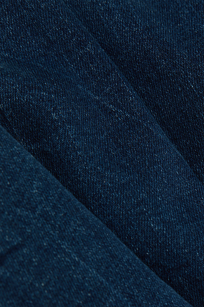 High-waisted jeans with organic cotton, BLUE DARK WASHED, detail image number 4