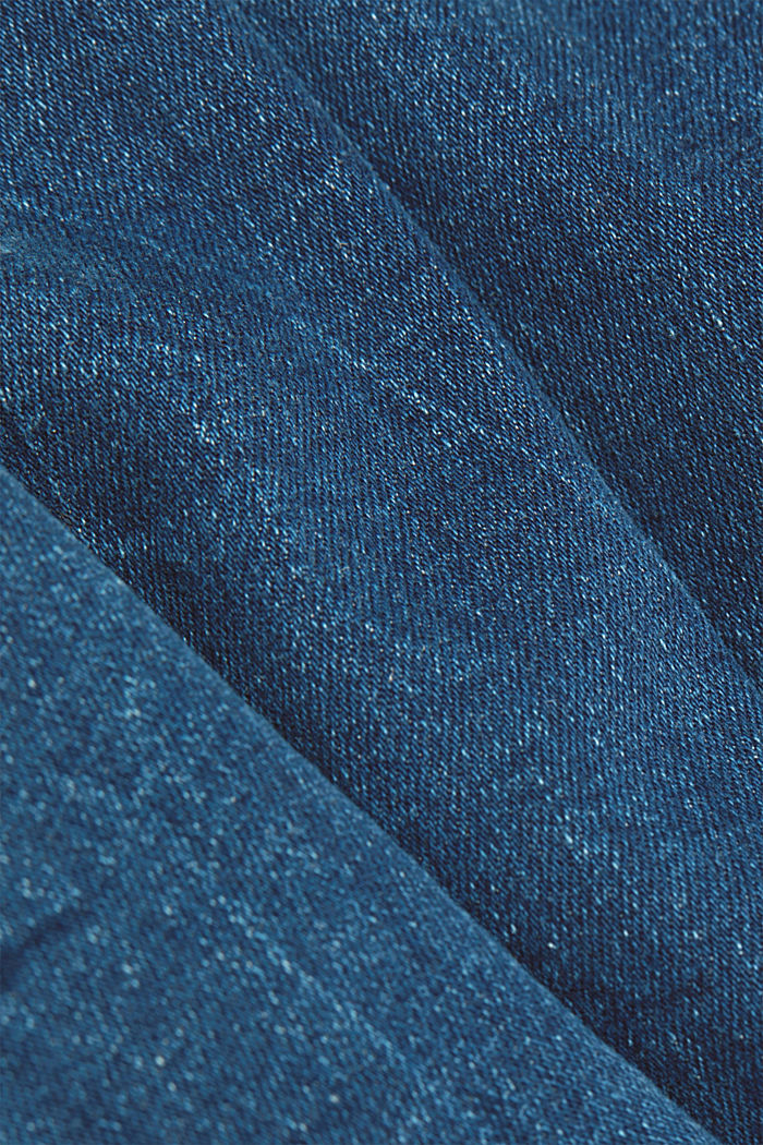 High-waisted jeans with organic cotton, BLUE MEDIUM WASHED, detail image number 4