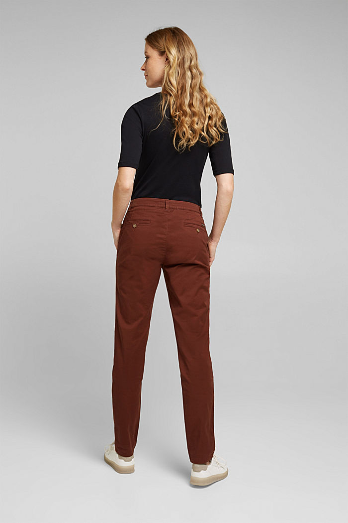Chinos with organic cotton, BROWN, detail image number 3