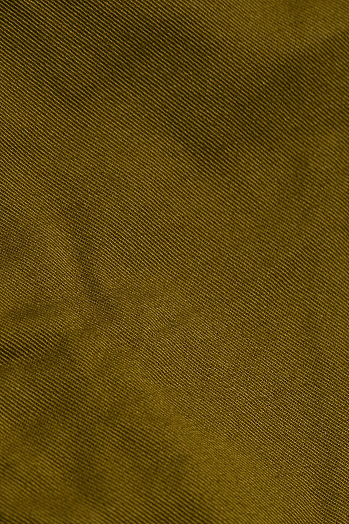 Chinos with organic cotton, OLIVE, detail image number 4