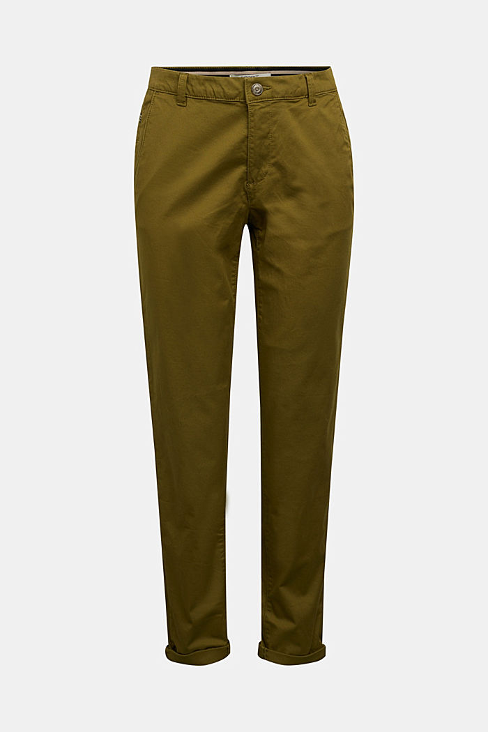 Chinos with organic cotton