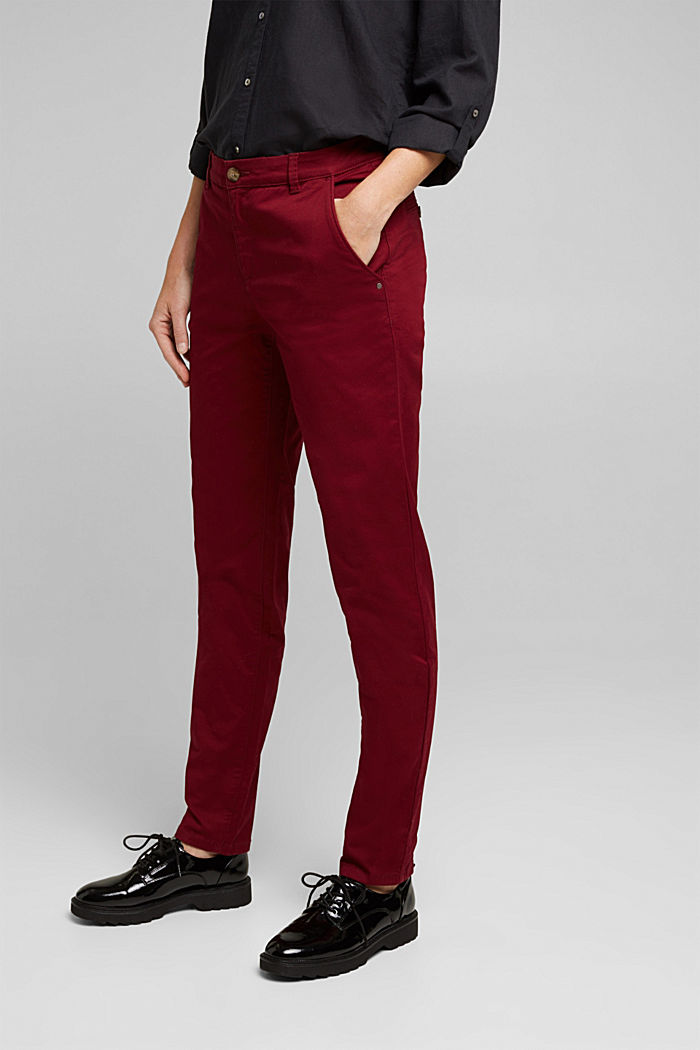 Chino mit Organic Cotton, BORDEAUX RED, detail image number 5