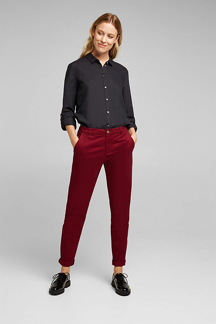 Chino mit Organic Cotton, BORDEAUX RED, detail image number 7