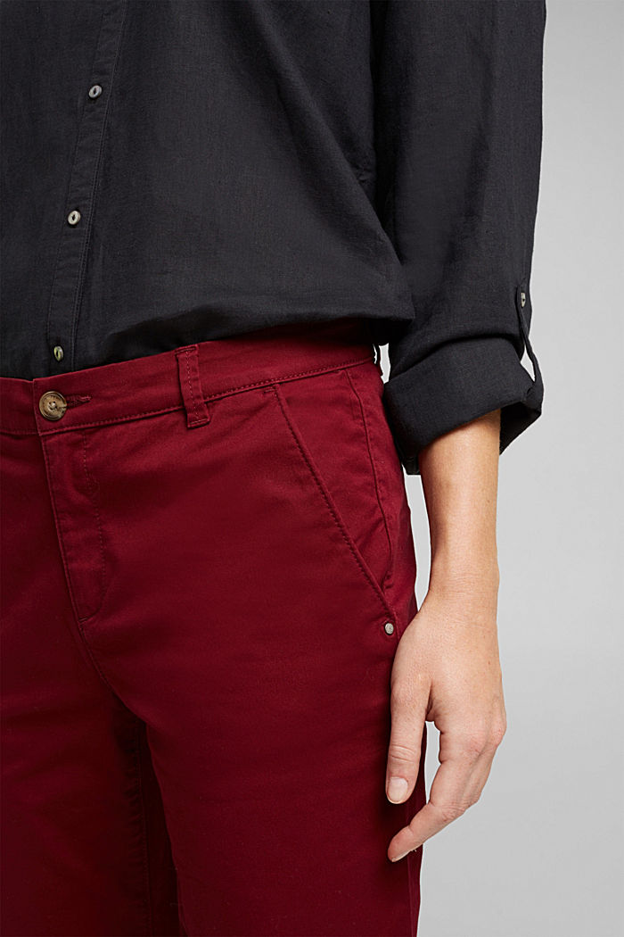 Chino mit Organic Cotton, BORDEAUX RED, detail image number 2