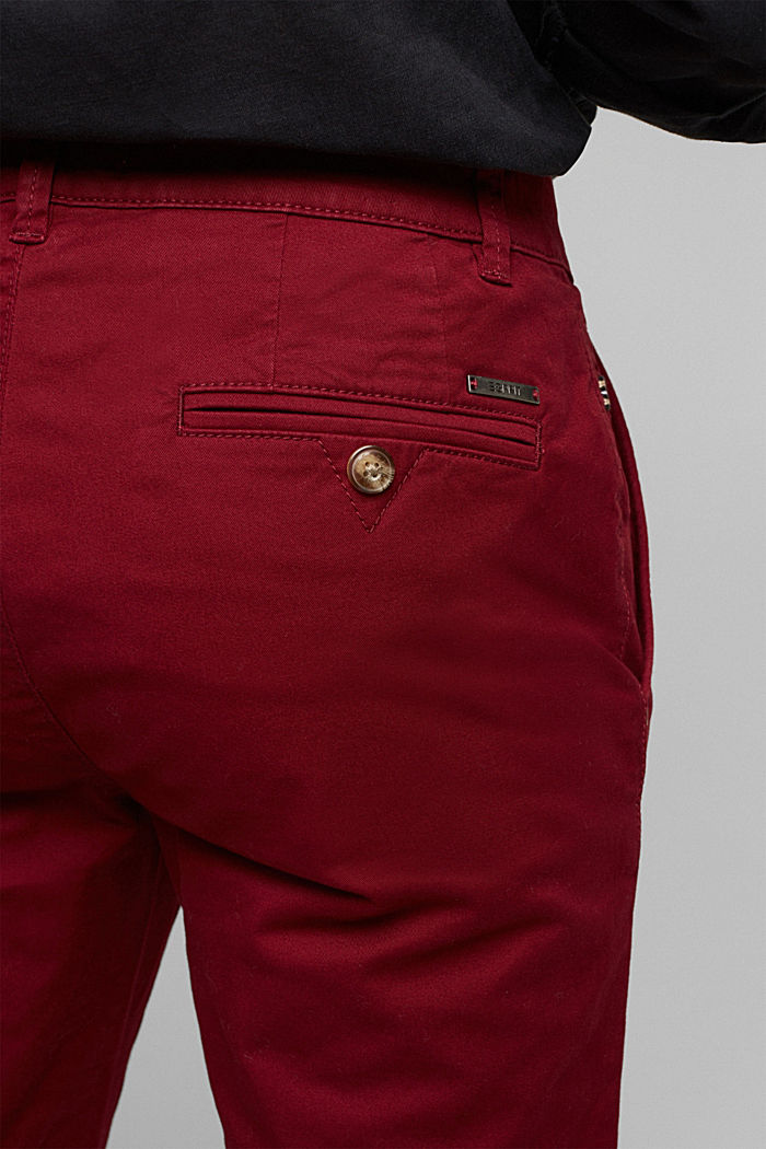 Chino mit Organic Cotton, BORDEAUX RED, detail image number 6