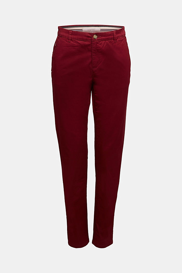 Chino mit Organic Cotton, BORDEAUX RED, detail image number 8