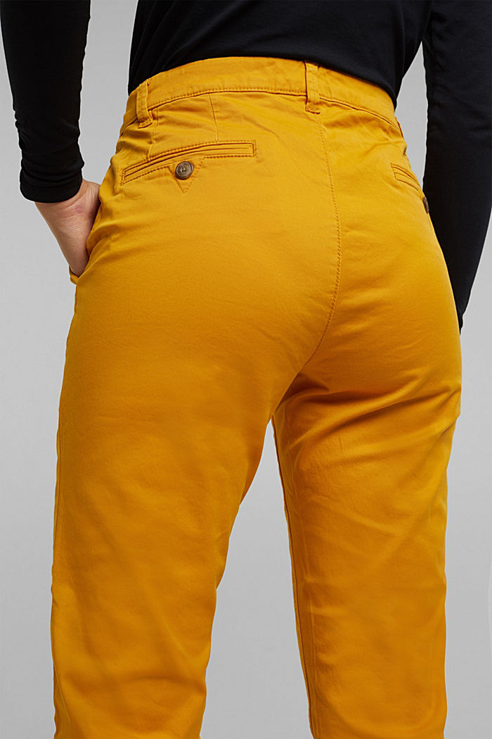 Chino mit Organic Cotton, BRASS YELLOW, detail image number 2