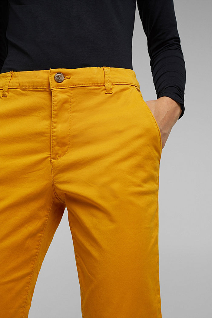 Chino mit Organic Cotton, BRASS YELLOW, detail image number 5