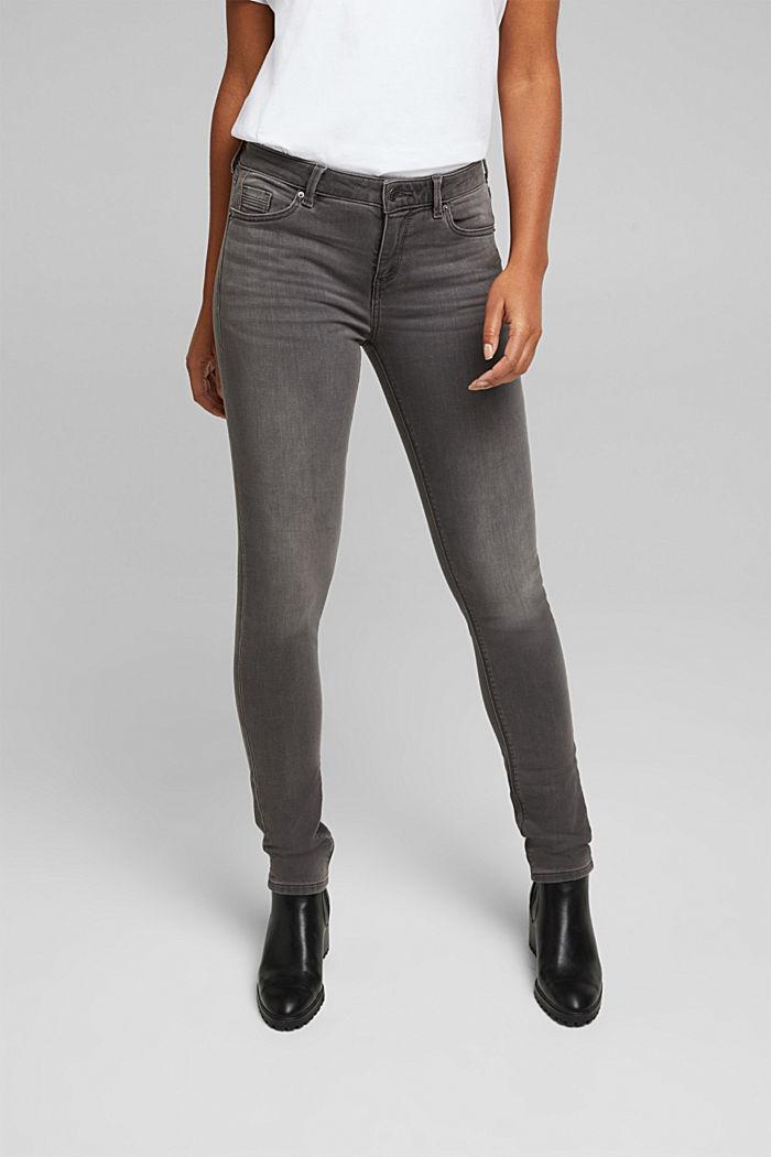 Jeans in softer Jogger-Qualität, GREY MEDIUM WASHED, detail image number 0