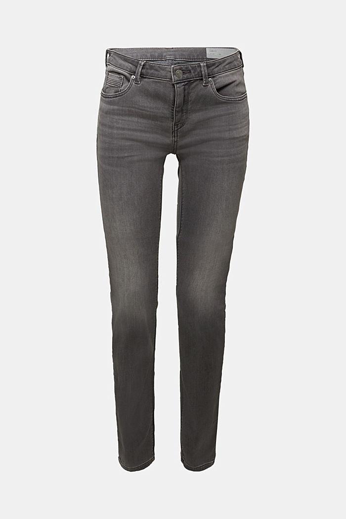 Jeans in softer Jogger-Qualität, GREY MEDIUM WASHED, detail image number 5