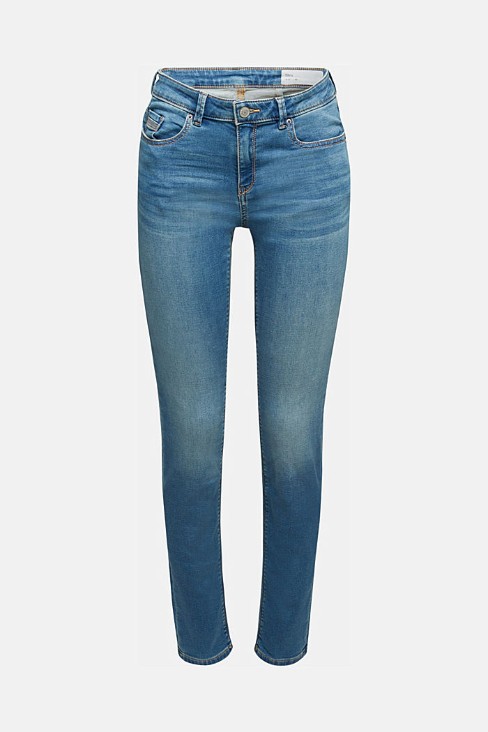 Jeans in soft tracksuit material