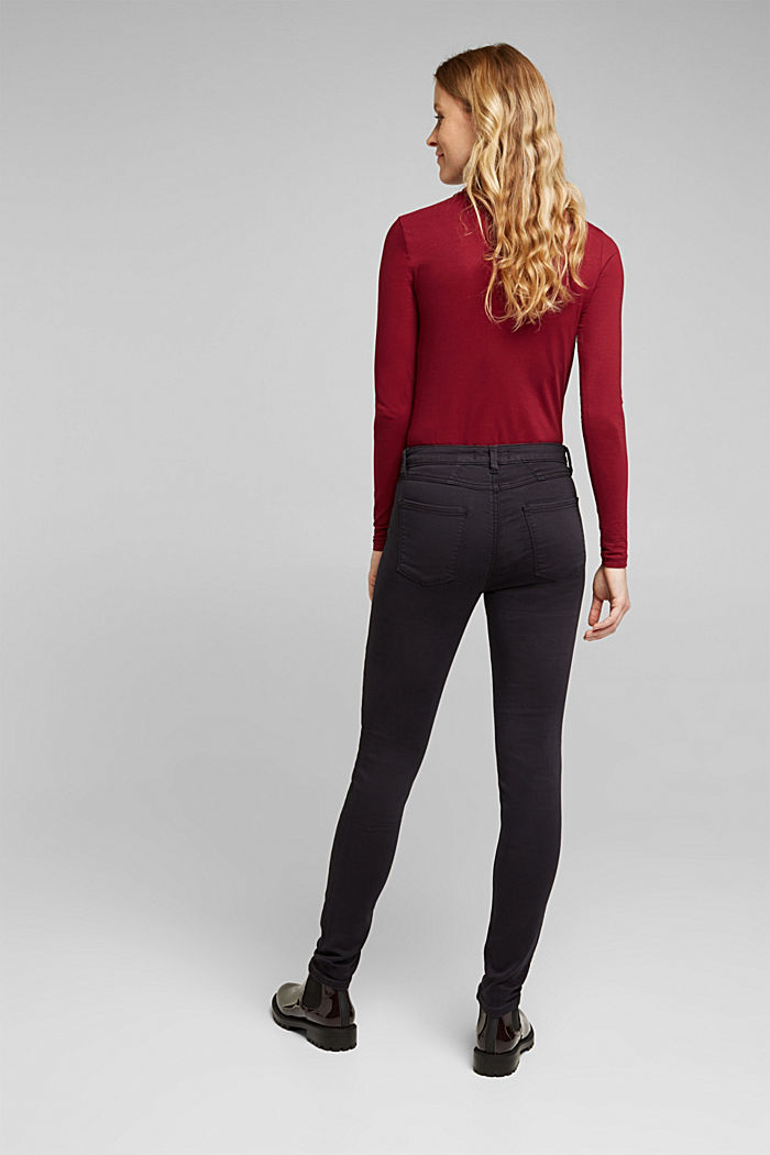 Stretch jeans containing organic cotton, BLACK, detail image number 3
