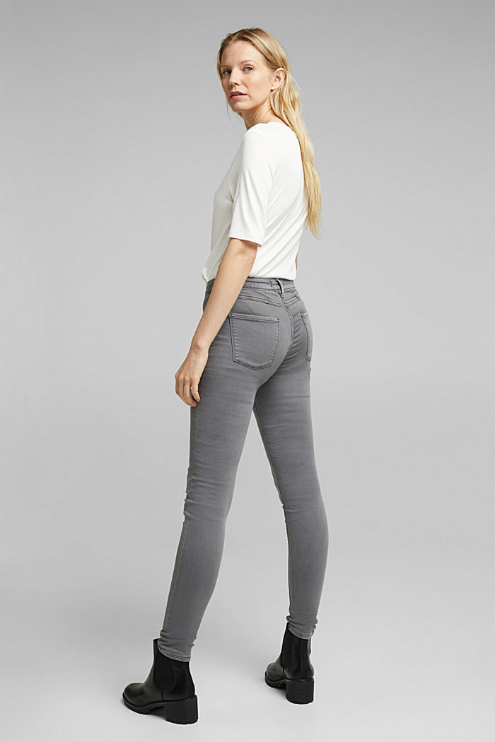 Stretch jeans containing organic cotton, GREY, detail image number 3