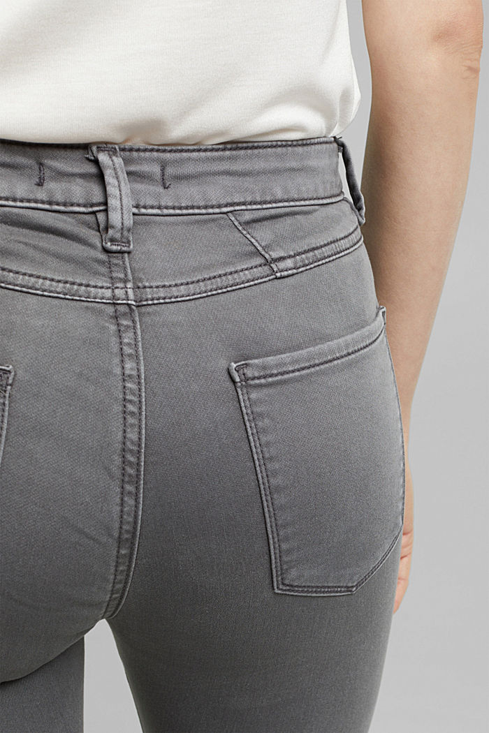 Stretch jeans containing organic cotton, GREY, detail image number 2