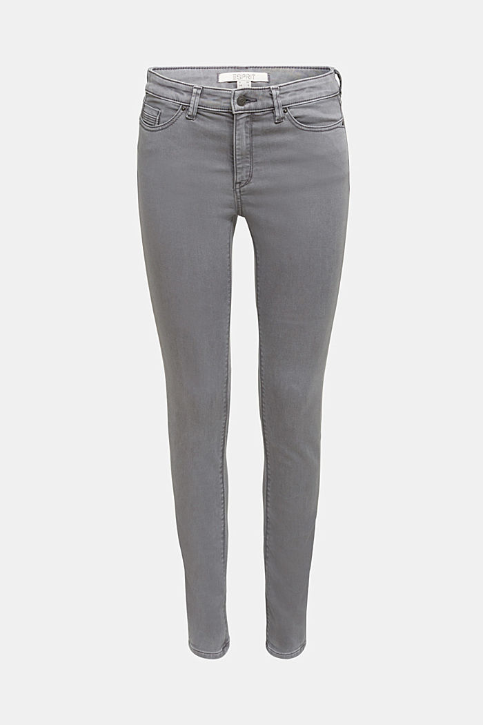 Stretch jeans containing organic cotton, GREY, detail image number 5