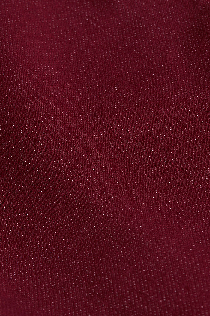 Stretch jeans containing organic cotton, BORDEAUX RED, detail image number 4